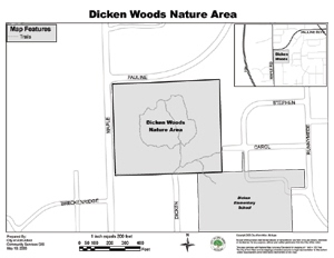 map of Dicken Woods Area